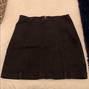Free People black jean mini skirt
